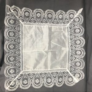 Vintage White Lace Handkerchief Something Old